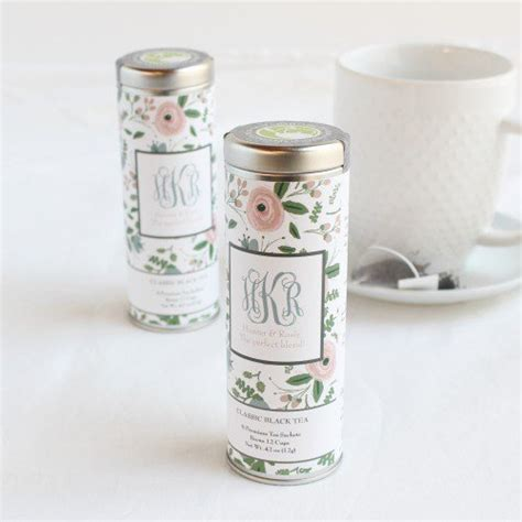 Wedding Favors Tins by Personalized Tea Tin Favor