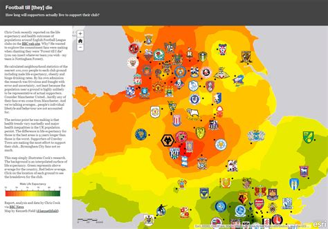 map uk football clubs richie goldstein on quot a map by kennethfield to