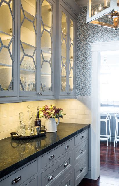 Butlers Pantry St Louis by White Cabinets Black Countertops Butlers Pantry St Louis
