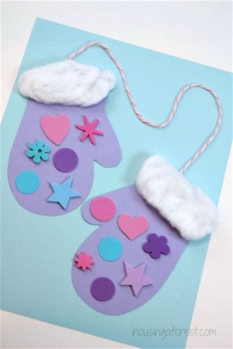 easy winter craft ideas for preschool winter mittens easy and inexpensive