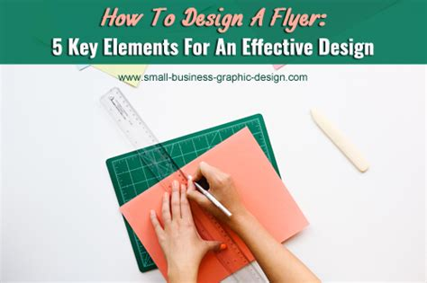 graphic design key elements design a flyer using these five elements
