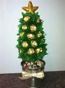 ferrero rocher christmas lolly tree bouquets pinterest