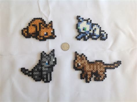 perler cat designs cats from the legend of the minish cap set of 4
