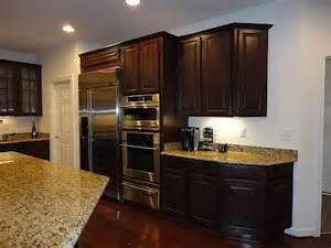 Ryan Home Kitchen Design ryan homes cherry bordeaux cabinets and santa cecilia granite