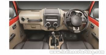 2015 mahindra thar facelift interior press indian