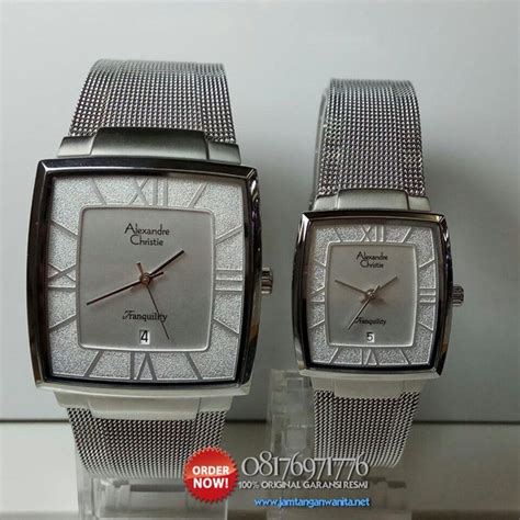 Jam Tangan Wanita Guess Ac Pasir Segi Black Rosegold jam tangan pasangan alexandre christie ac8329 original