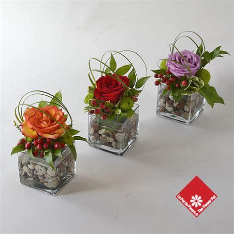 Square Vase Arrangements by Arrangements In Square Glass Vases The Flower Pot