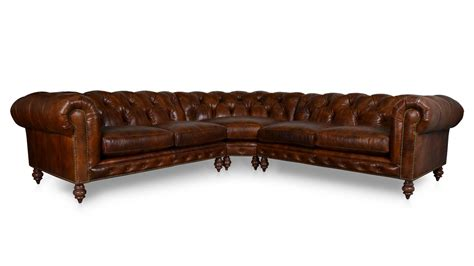 leather chesterfield sectional cococohome soho chesterfield radius corner leather