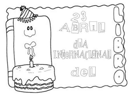 libro para colorear del dia dibujos del d 237 a internacional del libro para pintar