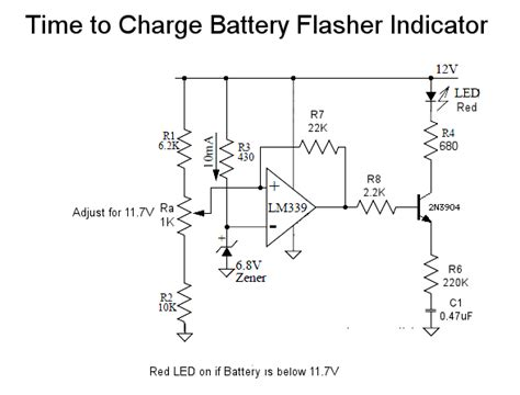 led capacitor charge indicator battery charge indicator