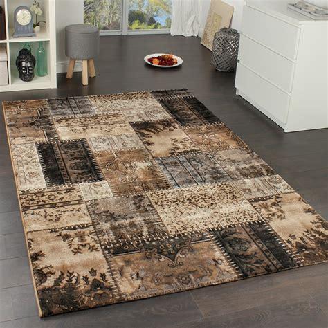 teppiche braun beige high quality designer rug vintage patchwork sle design
