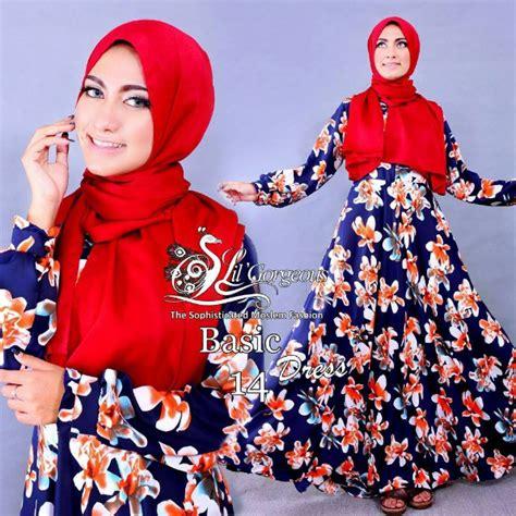 Baju Muslim 028 Motif 6 koleksi baju muslim syar i modern motif terbaru 2016