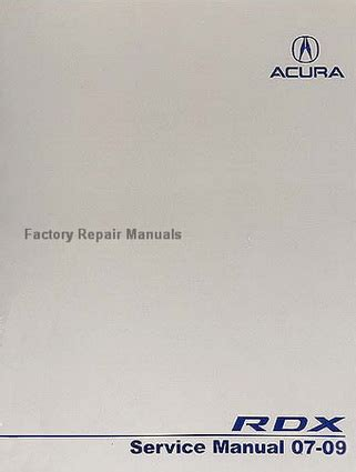 how to download repair manuals 2008 acura rdx seat position control 2007 2009 acura rdx factory service manual original honda shop repair factory repair manuals