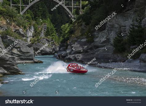 speed boat queenstown nz queenstown new zealand december 28 tourists enjoy a
