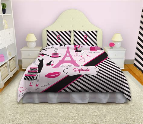 black and white paris bedding black and white striped girls comforter paris fashion bedding 17 eloquent innovations
