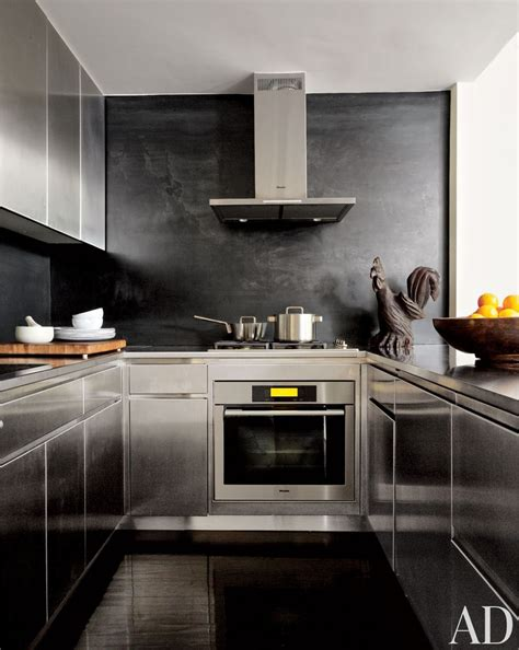 stainless steel kitchen designs modern kitchen by robert passal interior architectural