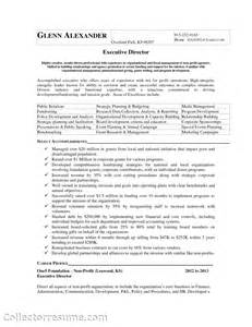 Resume Cover Letter Non Profit Sle Foundation Executive Director Cover Letter Marketing