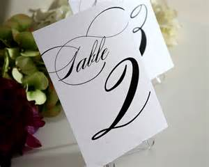 table numbers wedding wedding table numbers in black ink for your wedding reception table numbers by shine