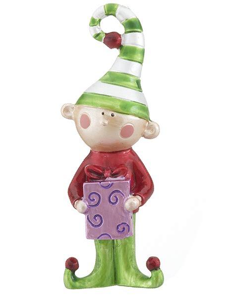elf holding purple present christmas ornament kids
