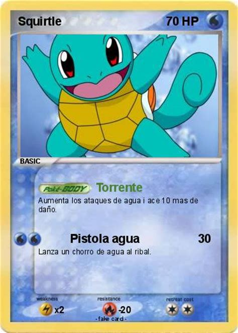Ex M by Pok 233 Mon Squirtle 301 301 Torrente My Pokemon Card