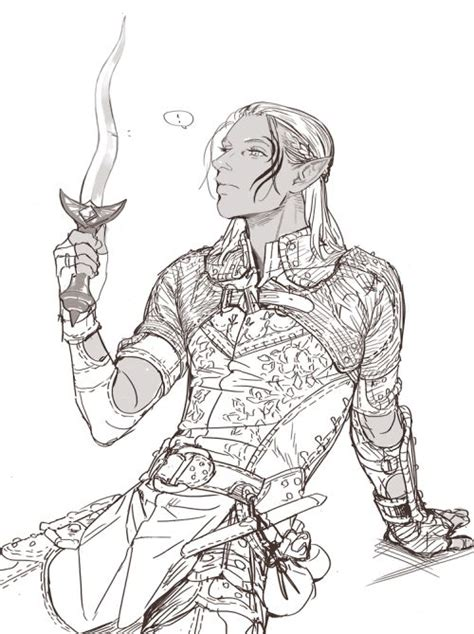 dragon age coloring page dragon age 2 hawke sketch coloring page