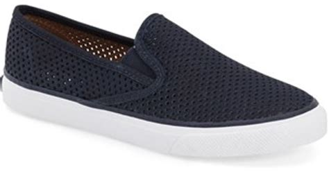 perforated slip on sneaker sperry top sider seaside perforated slip on sneaker in