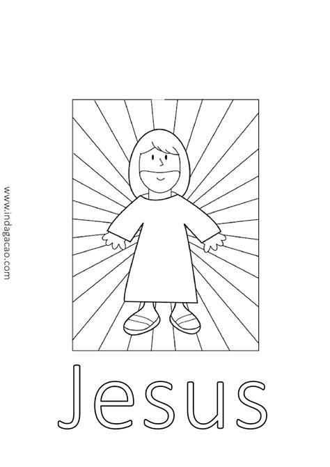 Desenho de Jesus para colorir baixar - INDAGAÇÃO