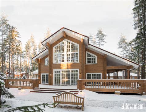 cottage rovaniemi facade of helios luxury log cabin by rovaniemi