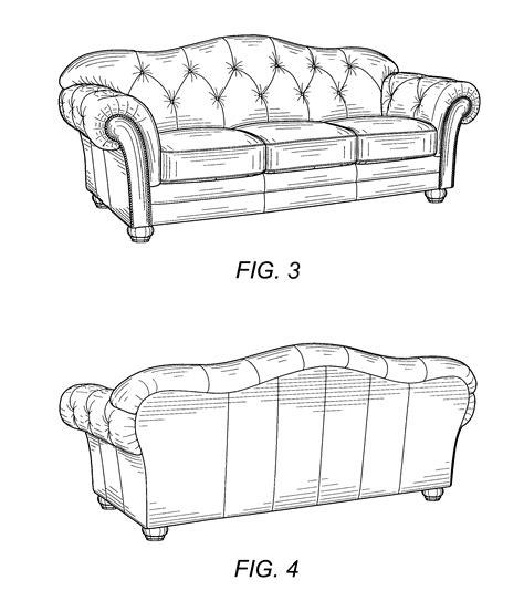 sofa drawing patent usd520773 sofa google patents
