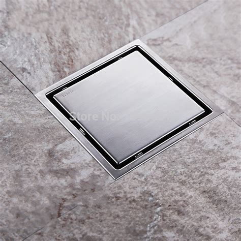 Bathroom Shower Drain Tile Insert Square Floor Waste Grates Bathroom Shower Drain 150 X 150mm 304 Stainless Steel