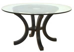 Dining Room Table With Glass Top Furniture Glass Dining Table With Curved Metal Base
