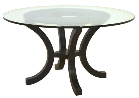 furniture glass dining table with curved metal base