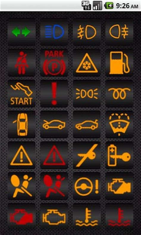 bmw indicator lights bmw warning lights for android appszoom