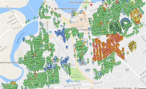 Bank Nj Property Tax Records Bank Borough Resident Puts Assessment Changes Into Colorful Map