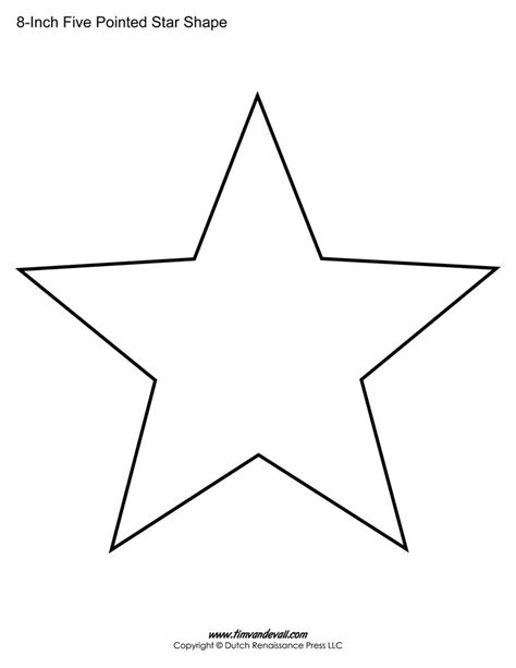 template pattern gang of four five sided star shape sherrys place pinterest star