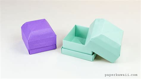 How To Make A Money Box With Paper - origami gem gift box tutorial great as a ring box