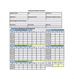 monthly timesheet template word monthly timesheet template 15 free documents