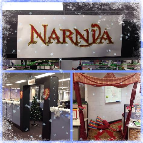 christmas decorations in the office narnia theme