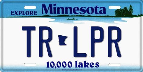 license tag minnesota license plate license tag novelty license