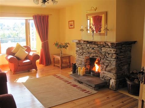 millifield sitting room with fireplace millfield self catering home kenmare co kerry ireland