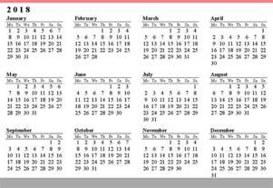 Calendar 2018 Large Print Free Printable Calendar 2017 2018 Calendar Free