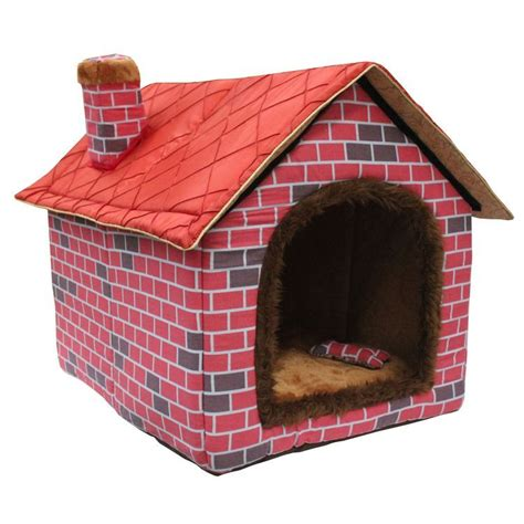 warmest dog house pet house bed 2014 autumn and winter top selling fold large dog house big red brick
