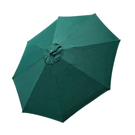 Top Patio Umbrella Cover 9 Ft 8 Ribs Canopy Green Patio Umbrella Replacement Covers