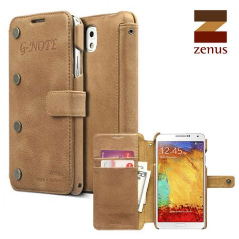 Zenus Retro Vintage Brown Diary Samsung Galaxy Note 3 Genuine Leather zenus g note diary for samsung galaxy note 3 vintage brown mobilefun
