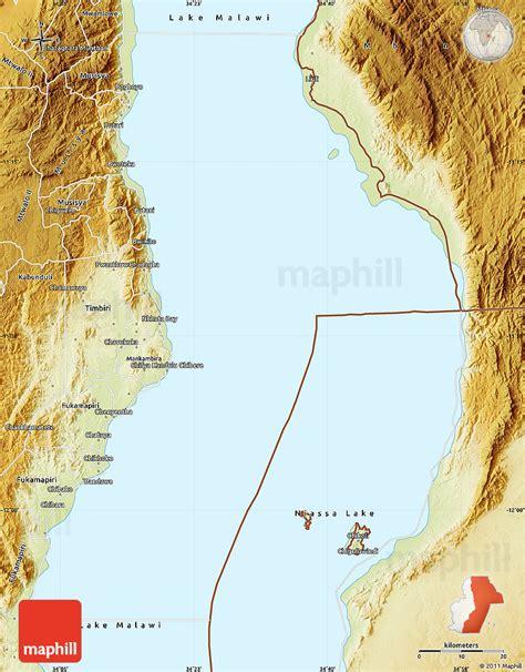 geographical map of malawi physical map of lake malawi