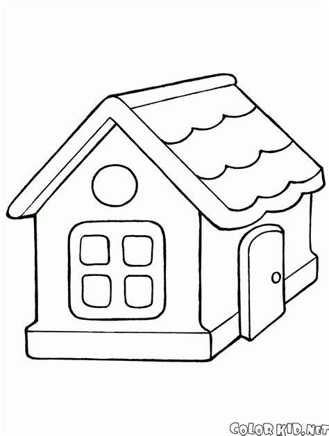 casa da colorare coloring page house
