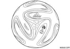 coloriage ballon de foot coupe du monde 2014