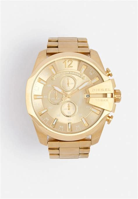 Diesel Mega Chief Gold White mega chief gold diesel watches superbalist