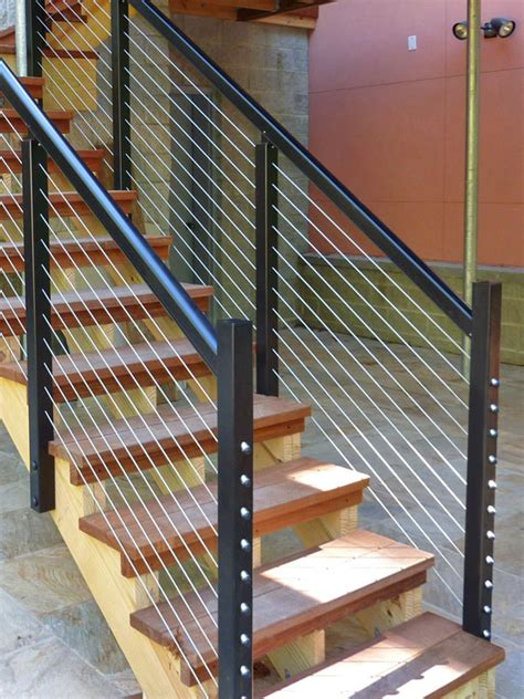 Cable Stair Railing Designrail 174 Stair Railing Feeney Photo Gallery