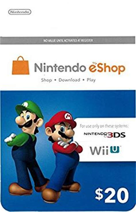 Nintendo 3ds Gift Card - amazon com nintendo eshop 20 gift card gift cards